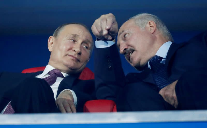 Putin says Russia has set up force to aid Belarus leader if needed