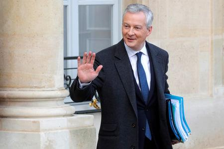 FILE PHOTO: French Finance Minister Bruno Le Maire leaves following the weekly cabinet meeting at the Elysee Palace in Paris