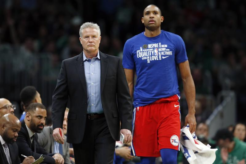 Though Al Horford is now coming off the bench in Philadelphia, Brett Brown's confidence in the veteran big man hasn't wavered.