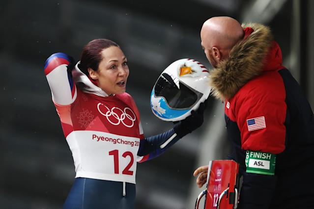 Katie Uhlaender knew her mother was in PyeongChang. She didn't know she'd see her mother right before the first race of what could be her final Olympics. (Getty)