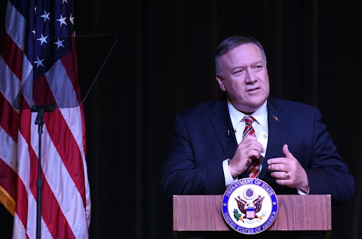 Secretary of State Mike Pompeo reportedly went off on an NPR reporter for asking him questions about Ukraine during an interview. (Photo: Barcroft Media via Getty Images)