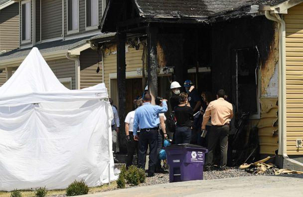 PHOTO: Officials investigate a house fire that killed five people, on Aug. 5, 2020, in Denver. (Denver Post via Getty Images, FILE)