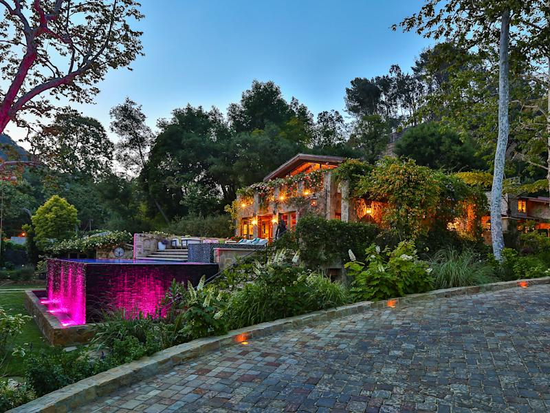 The outside of her Bel Air home.