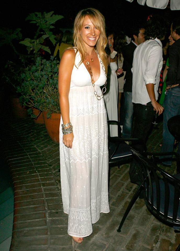 "Haylie Duff dons a summery white dress for a party at the Chateau Marmont in West Hollywood. Jeff Vespa/<a href=""http://www.wireimage.com"" target=""new"">WireImage.com</a> - July 25, 2007"