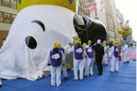 <p>The iconic Snoopy balloon makes yet another appearance at the 74th annual Macy's Thanksgiving Day Parade. </p>