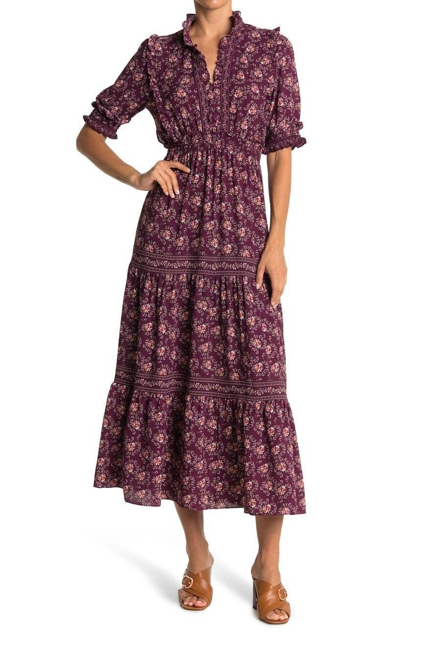 """<h2>Max Studio Tiered Maxi Dress</h2><br>You don't need to be style savant to know that anything of the <a href=""""https://www.refinery29.com/en-us/the-nap-dress-best-styles"""" rel=""""nofollow noopener"""" target=""""_blank"""" data-ylk=""""slk:prairie-chic, nap dress variety"""" class=""""link rapid-noclick-resp"""">prairie-chic, nap dress variety</a> has been all the rage for over a year now (with no sign of slowing down in popularity, BTW). And of course, Nordstrom Rack has a way to get in on the trend at a major discount.<br><br><strong>The Hype:</strong> 4 out of 5 stars; 241 reviews on <a href=""""https://www.nordstromrack.com/s/max-studio-elbow-length-sleeve-print-tiered-maxi-dress/6043768"""" rel=""""nofollow noopener"""" target=""""_blank"""" data-ylk=""""slk:NordstromRack.com"""" class=""""link rapid-noclick-resp"""">NordstromRack.com</a><br><br><strong>What They're Saying:</strong> """"This dress is AWESOME! Would 1,000% recommend! Fit is great and I received a lot of compliments the night I wore it out!"""" — lauren, NordstromRack.com reviewer<br><br><strong>Max Studio</strong> Elbow Length Sleeve Print Tiered Maxi Dress, $, available at <a href=""""https://go.skimresources.com/?id=30283X879131&url=https%3A%2F%2Fwww.nordstromrack.com%2Fs%2Fmax-studio-elbow-length-sleeve-print-tiered-maxi-dress%2F6043768"""" rel=""""nofollow noopener"""" target=""""_blank"""" data-ylk=""""slk:Nordstrom Rack"""" class=""""link rapid-noclick-resp"""">Nordstrom Rack</a>"""