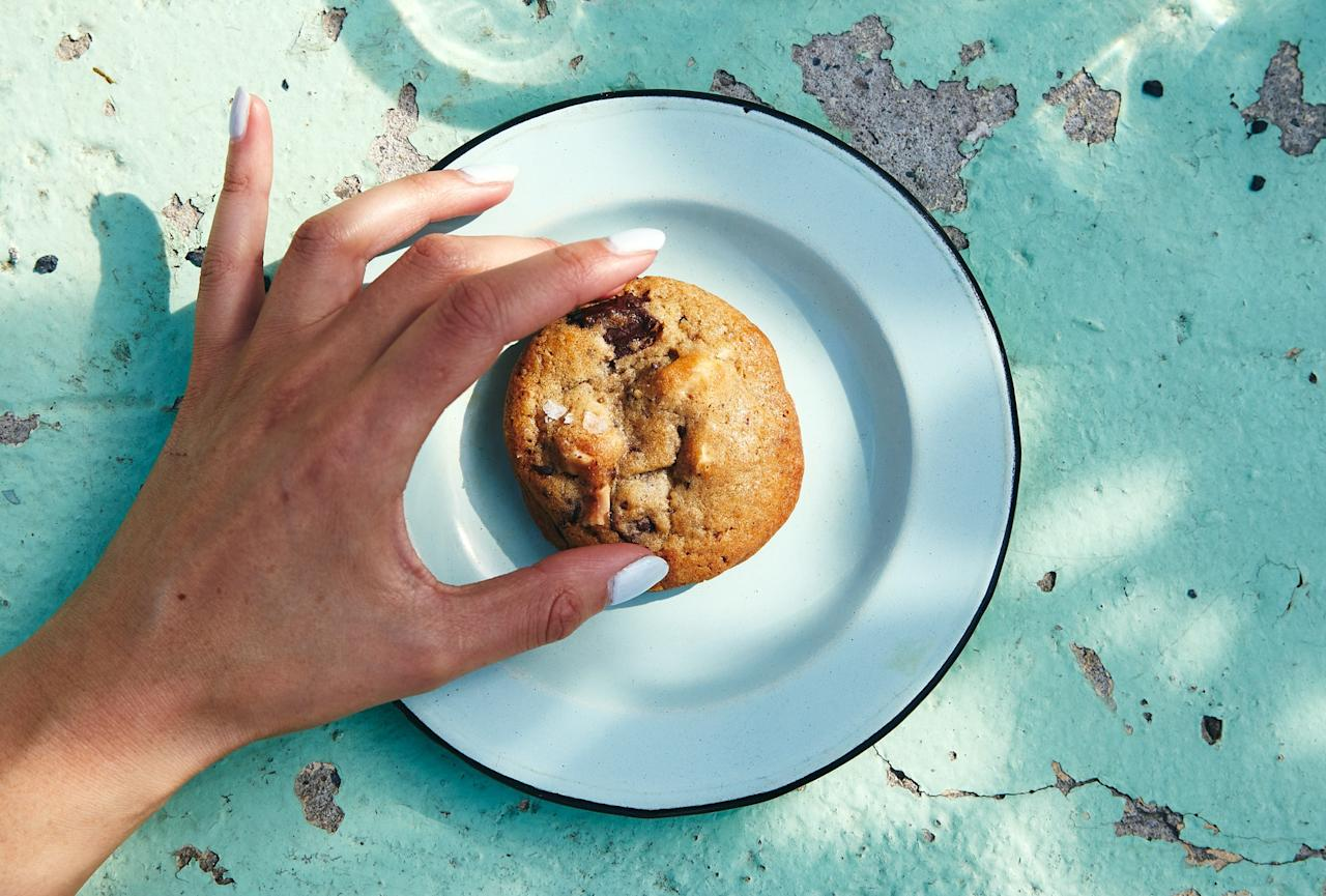 """Irresistible, chocolate-laced, nutty cookies from <a href=""""https://www.bonappetit.com/story/hot-10-best-new-restaurants-2019?mbid=synd_yahoo_rss#ochre"""">Ochre Bakery in Detroit</a>, No. 4 on our Hot Ten list for 2019. Coarse raw sugar gives them a subtle crunch in every bite, but you can replace it with an equal amount of white sugar if needed. And trust us on the big pieces of chocolate: The matchsticks are what give these cookies their melty stripes. <a href=""""https://www.bonappetit.com/recipe/chocolate-hazelnut-cookies?mbid=synd_yahoo_rss"""">See recipe.</a>"""