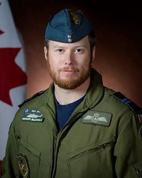 Capt. Brenden Ian MacDonald, a pilot originally from New Glasgow, Nova Scotia, is shown in a Department of National Defence handout photo. (THE CANADIAN PRESS/HO-Department of National Defence)