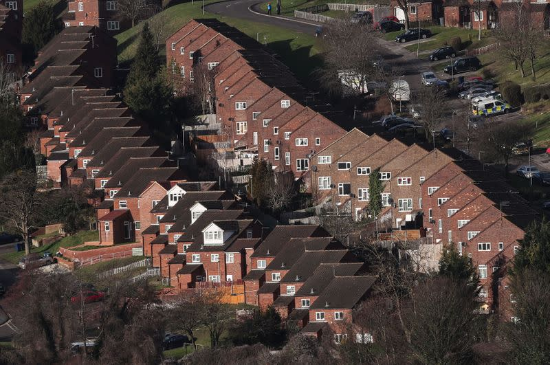 Rows of houses are seen in High Wycombe