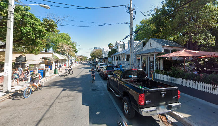 Pictured is Duval Street in Key West, where Dustin Allen Kouns was arrested.