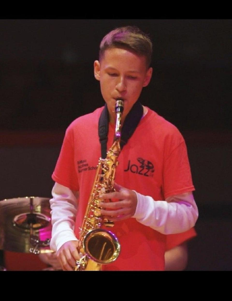 Louis Watkiss was a talented saxophonist. (Staffordshire Police/PA)