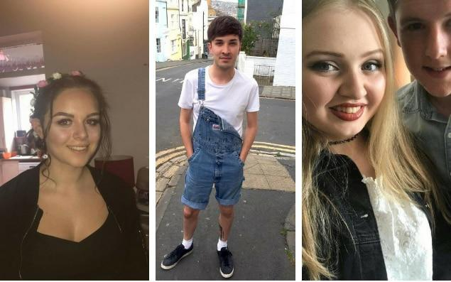 Missing teenagers (from left) Olivia Campbell, Martyn Hett, Chloe Rutherford and Liam Curry