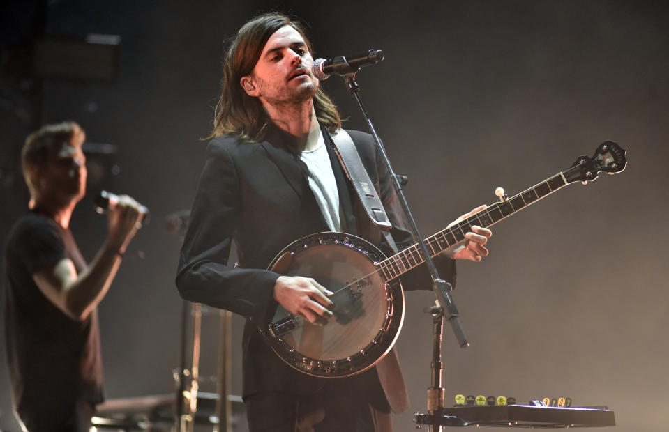 Winston Marshall of Mumford & Sons performs during the Okeechobee Music Festival at Sunshine Grove on March 08, 2020 in Okeechobee, Florida. (Photo by Tim Mosenfelder/WireImage)