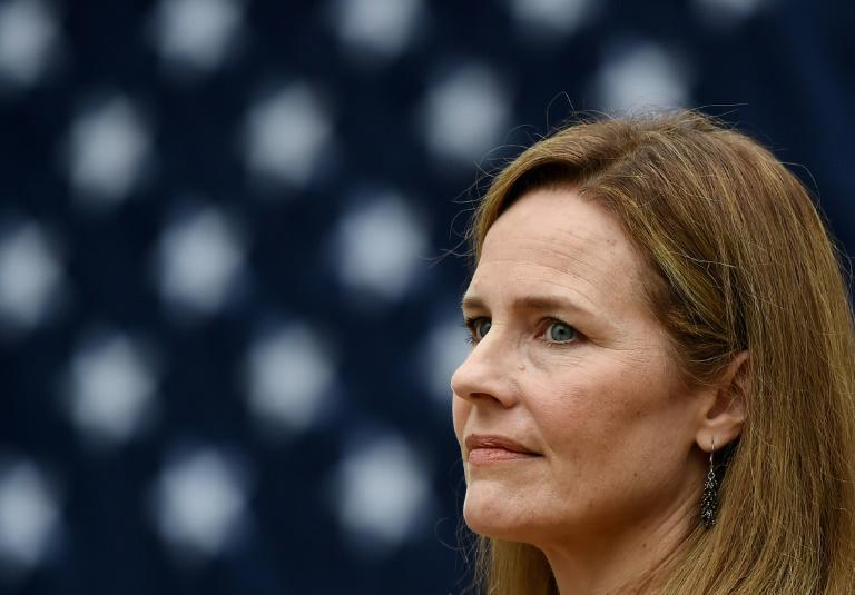 The nomination of Amy Coney Barrett, pictured in September 2020, to the US Supreme Court has proved hugely contentious