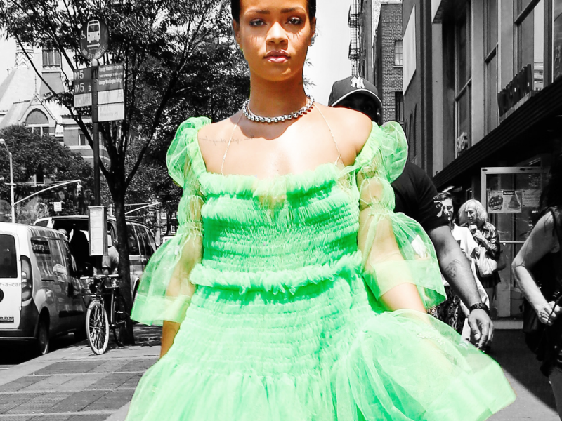 In , Rihanna was awarded the Fashion Icon Award by the CFDA. In typical Rih fashion, she arrived in a see-through Adam Selman dress covered in crystals, later telling Vogue that her only regret was not pairing the dress with a crystal-studded thong. If you thought that moment was going to be the apotheosis of all things Rihanna, well, think again.