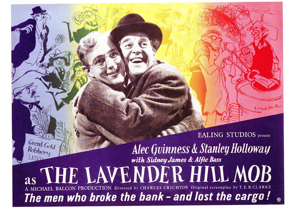 The Lavender Hill Mob, poster, Alec Guinness, Stanley Holloway, 1951. (Photo by LMPC via Getty Images)