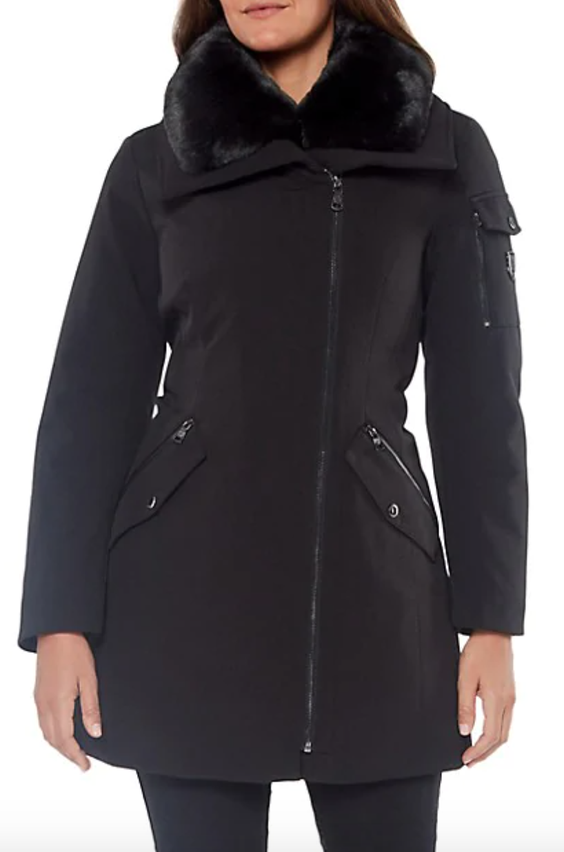 Vince Camuto Hooded Down Parka with Faux Fur-Trimmed Hood at Hudson's Bay.