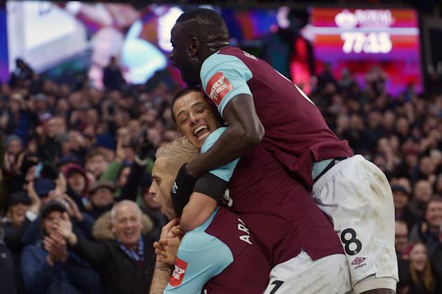 Javier Hernandez is playing with a smile again after West Ham January blues