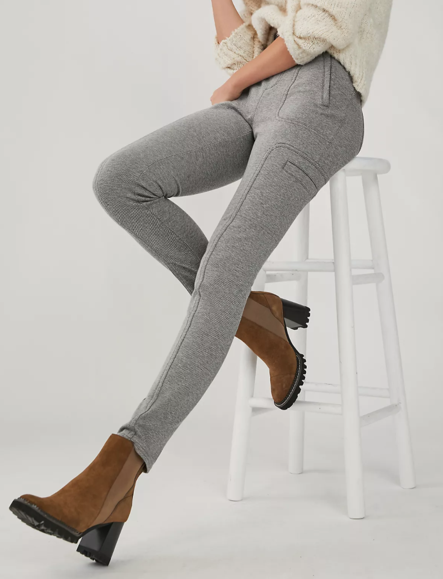 Anthropologie Frankie Trouser Legging in Light Grey