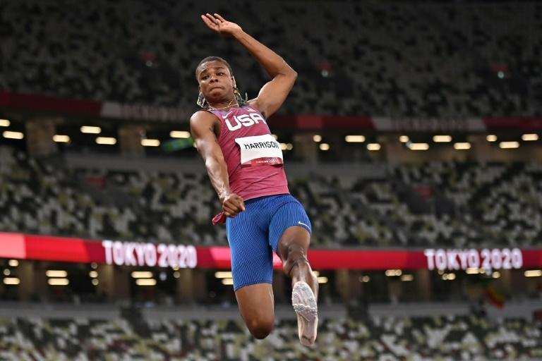 JuVaughn Harrison is competing in both the long jump and the high jump in Tokyo