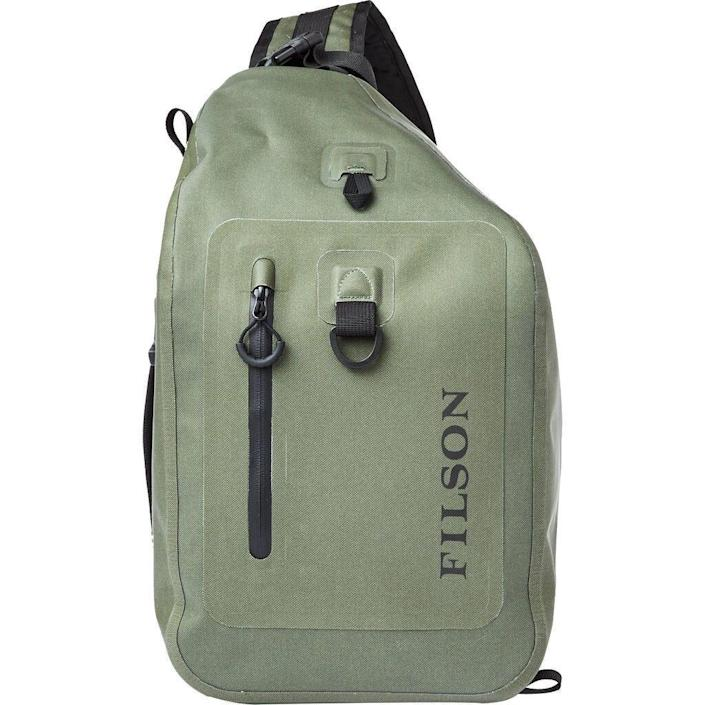 """<p><strong>Filson</strong></p><p>amazon.com</p><p><strong>$235.00</strong></p><p><a href=""""https://www.amazon.com/dp/B07VYSMVNH?tag=syn-yahoo-20&ascsubtag=%5Bartid%7C10060.g.36123677%5Bsrc%7Cyahoo-us"""" rel=""""nofollow noopener"""" target=""""_blank"""" data-ylk=""""slk:Buy Now"""" class=""""link rapid-noclick-resp"""">Buy Now</a></p><p>The latest entry in Filson's fishing line takes something that the company does well—dry bags—and merges it with something that a lot of other companies do poorly: sling packs. Whereas other water-resistant models inevitably leave your fly box drenched, Filson's is made of heavy-duty waterproof nylon that, coupled with a waterproof zipper, keeps its contents secure and non-soaked. And with a 20-liter capacity, the sling has enough space for a day's worth of gear. The Dry Sling is a bit pricey for what it is, especially considering that Filson's excellent <a href=""""https://go.redirectingat.com?id=74968X1596630&url=https%3A%2F%2Fwww.moosejaw.com%2Fproduct%2Ffilson-dry-backpack_10390398&sref=https%3A%2F%2Fwww.popularmechanics.com%2Fadventure%2Foutdoor-gear%2Fg36123677%2Ffly-fishing-gear%2F"""" rel=""""nofollow noopener"""" target=""""_blank"""" data-ylk=""""slk:Dry Backpack"""" class=""""link rapid-noclick-resp"""">Dry Backpack</a> goes for $175. But it's certainly a well-made piece of gear, with only one significant design flaw: no external straps for a water bottle or fly-rod tube. (Full disclosure: I occasionally contribute to <em>The Filson Journal</em>.)</p>"""