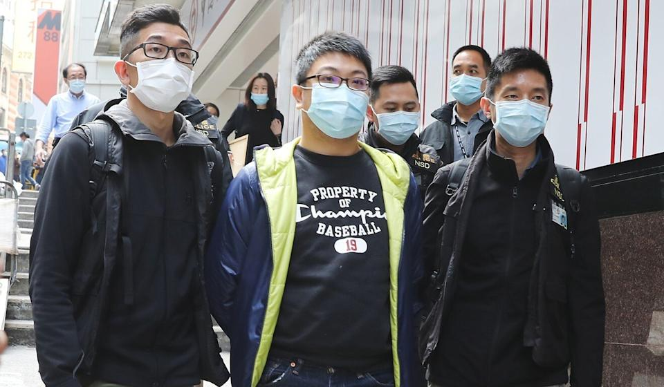 Sai Kung District Council chairman Chung Kam-lun was arrested. Photo: May Tse
