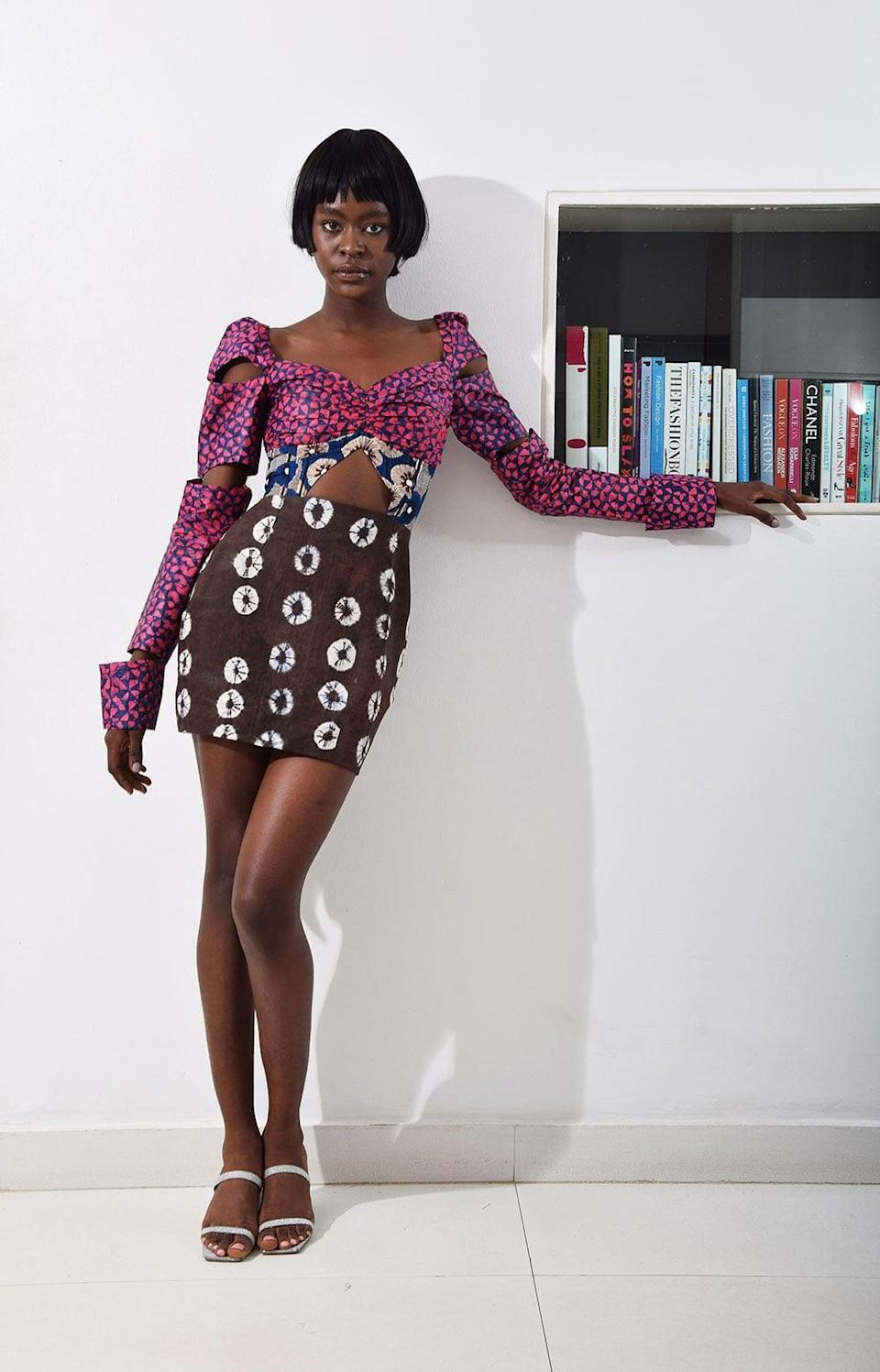 """<p>For a unique piece that will have everyone saying """"wow!"""" try this stunning <span>Lisa Folawiyo Rissa Mini Dress</span> ($421).</p>"""