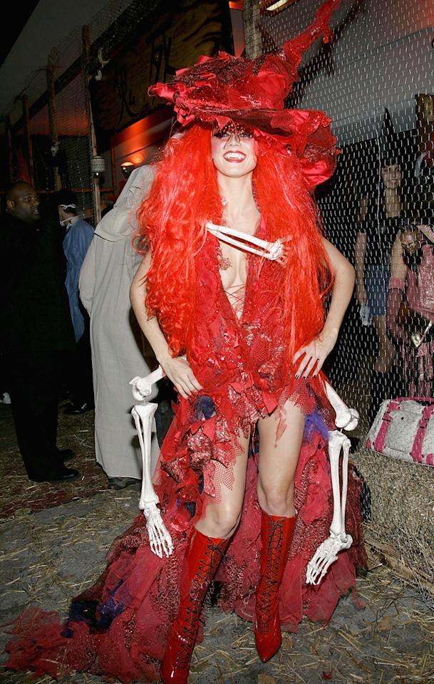 NEW YORK - OCTOBER 31: Model Heidi Klum attends her 5th Annual Halloween party at Marquee October 31, 2004 in New York City. (Photo by Evan Agostini/Getty Images) *** Local Caption *** Heidi Klum
