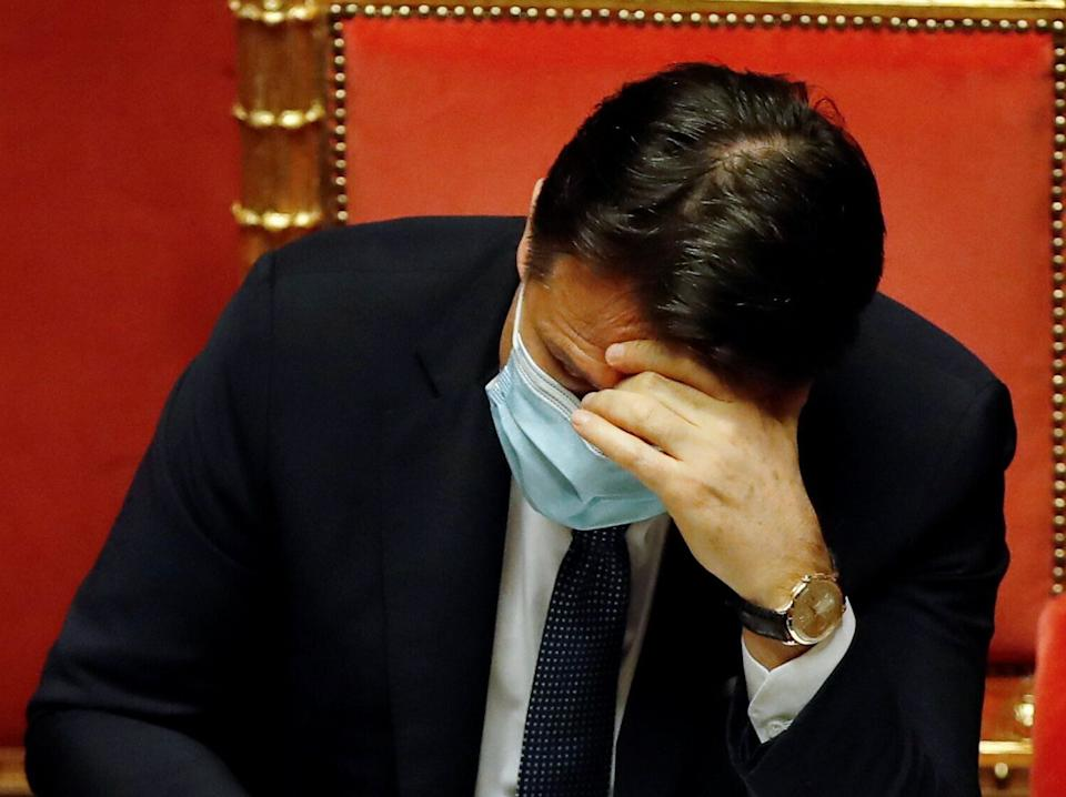 Italian Prime Minister Giuseppe Conte attends a debate at the Senate prior to a confidence vote, in Rome, Italy January 19, 2021. Alessandra Tarantino/Pool via REUTERS (Photo: POOL New / Reuters)