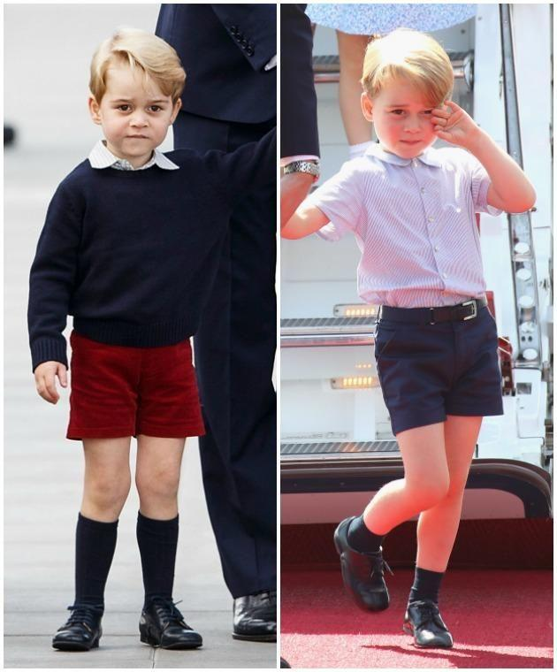 History is behind Prince George's constant parade of shorts - not his mum, Kate. Photo: Getty