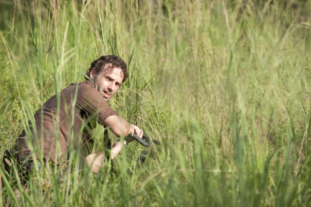"Rick Grimes (Andrew Lincoln) in ""The Walking Dead"" episode, ""Home."""