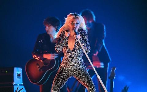 Lady Gaga performs Shallow onstage during the 61st Annual Grammy Awards  - Credit: AFP