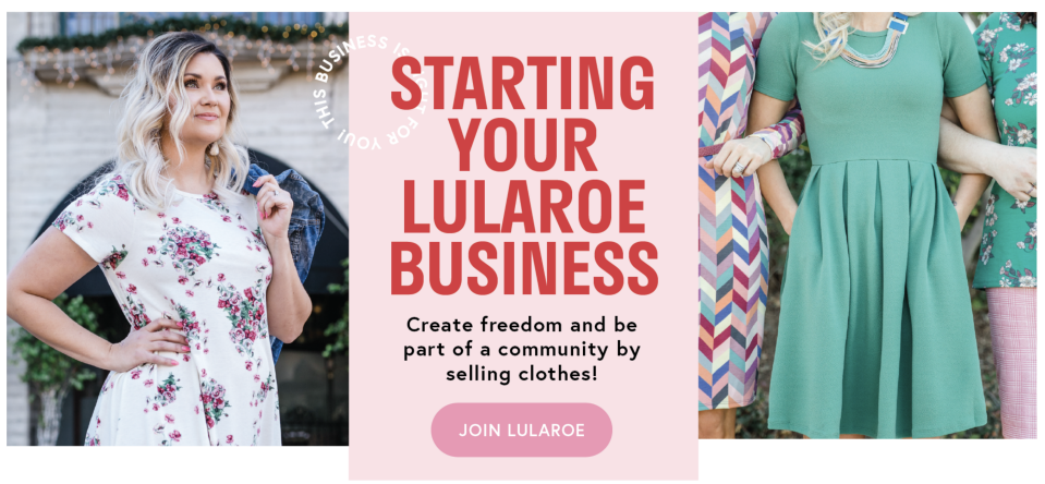 LuLaRoe is a popular MLM company known for its brightly patterned leggings. The attorney general in Washington has sued the company, alleging it's a pyramid scheme. The company said the lawsuit is without merit. (Screenshot of LuLaRoe's website)
