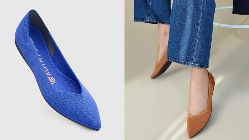 Rothy's sustainable and machine washable flats are available in bold new colours for spring.