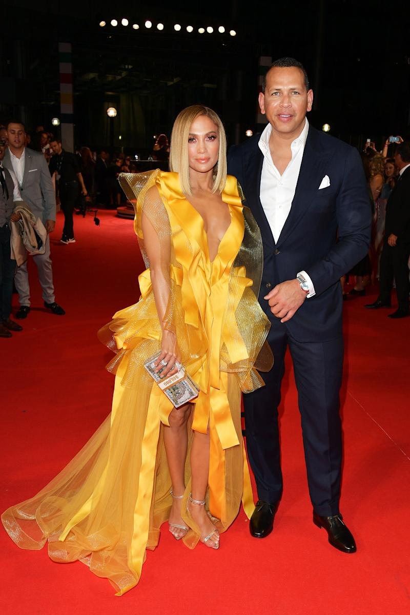 Jennifer Lopex and fiancé Alex Rodriguez
