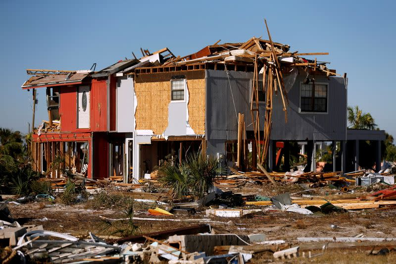 FILE PHOTO: A marina damaged by Hurricane Michael is pictured in Mexico Beach