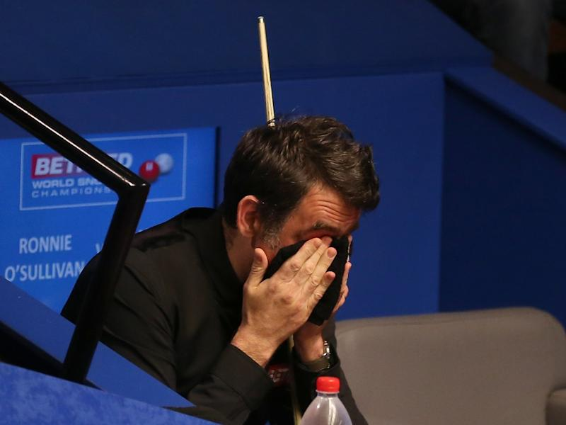 Ronnie O'Sullivan 'struggled to stay awake' during World Snooker Championship first-round loss to James Cahill