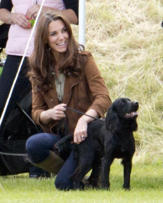 Kate with Lupo. (Photo: Mark Cuthbert via Getty Images)