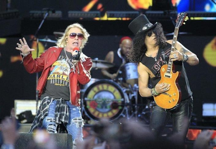 Guns N' Roses, including Axl Rose, left, and Slash, will get its own SiriusXM radio channel starting July 13.