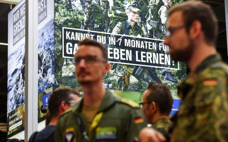 The German army has tried to enlist tech-savy recruits since conscription ended in 2011 (AFP Photo/Ina FASSBENDER)