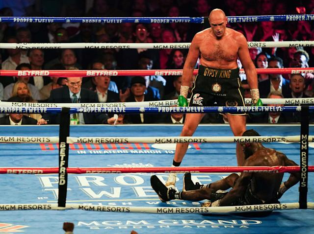 Tyson Fury stopped Deontay Wilder last month: Getty