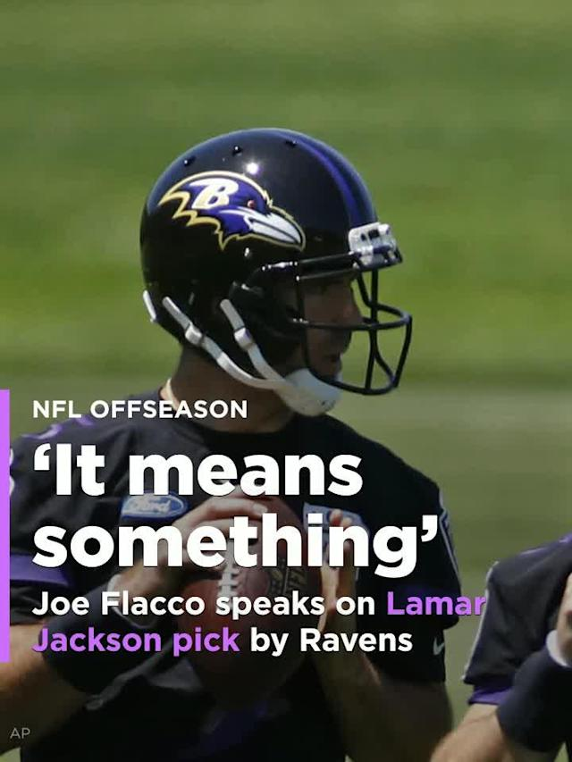 The Joe Flacco era with the Baltimore Ravens didn't end when the team drafted Lamar Jackson in the first round, but now we have a pretty good idea how it will end. And Flacco seems to recognize that.