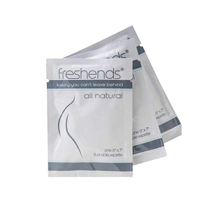 """<p><strong>Freshends</strong></p><p>amazon.com</p><p><strong>$46.50</strong></p><p><a href=""""https://www.amazon.com/dp/B08M5KHFJK?tag=syn-yahoo-20&ascsubtag=%5Bartid%7C2089.g.37143544%5Bsrc%7Cyahoo-us"""" rel=""""nofollow noopener"""" target=""""_blank"""" data-ylk=""""slk:Shop Now"""" class=""""link rapid-noclick-resp"""">Shop Now</a></p><p>Let's be honest, van living is much like camping for days or months on end, which means you're not going to shower every day. </p><p>That's where these towelettes come in handy — leaving you smelling fabulous and squeaky clean in a pinch. The biodegradable, flushable wipes are paraben- and alcohol-free and made with soothing ingredients like aloe, cucumber extract, and chamomile. </p><p>We're also big fans of <a href=""""https://www.amazon.com/Freshends-Hand-Sanitizing-Towelettes-100/dp/B08JT22HF9?tag=syn-yahoo-20&ascsubtag=%5Bartid%7C2089.g.37143544%5Bsrc%7Cyahoo-us"""" rel=""""nofollow noopener"""" target=""""_blank"""" data-ylk=""""slk:Freshends hand sanitizer"""" class=""""link rapid-noclick-resp"""">Freshends hand sanitizer</a> wipes, made with ethyl alcohol, aloe, and vitamin E.</p>"""