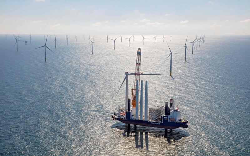 Offshore wind power has emerged as a key success story in the green growth agenda - AFP