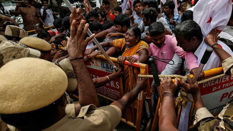 Protests flare over India's citizenship law, with death toll up to at least 17