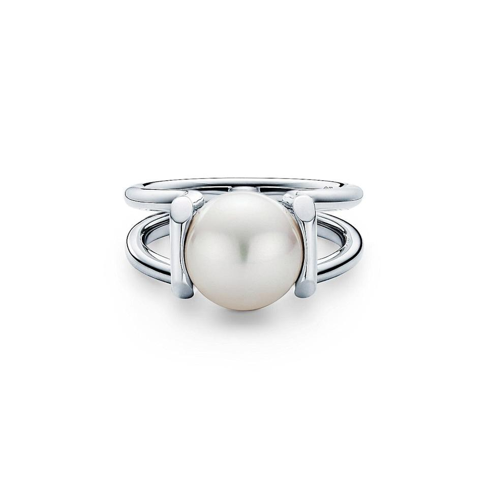 "<br><br><strong>Tiffany & Co.</strong> Freshwater Pearl Ring in Sterling Silver, $, available at <a href=""https://go.skimresources.com/?id=30283X879131&url=https%3A%2F%2Fwww.tiffany.com%2Fjewelry%2Frings%2Ftiffany-hardwear-freshwater-pearl-ring-in-sterling-silver-GRP11190%2F"" rel=""nofollow noopener"" target=""_blank"" data-ylk=""slk:Tiffany & Co"" class=""link rapid-noclick-resp"">Tiffany & Co</a>"