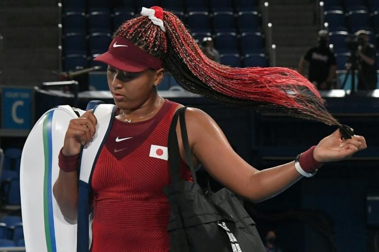 Japan's Naomi Osaka had a short-lived return to action after taking a break for her mental health