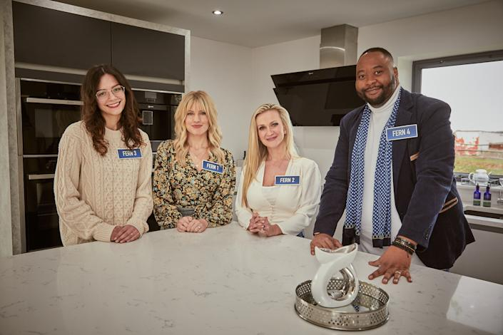 Four contestants try to prove they are the real Fern in This Is My House. (BBC/Expectation Entertainment)