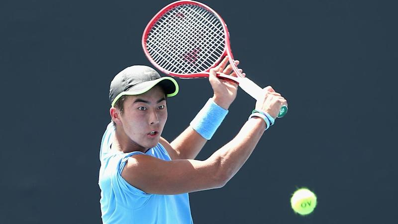 Rinky Hijikata will face Dutchman Tallon Griekspoor in round two of the Australian Open qualifiers