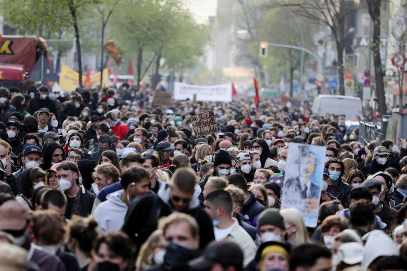 May Day protests in Berlin